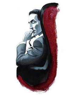 Sherlock Holmes - Illustration by Fernando Vicente for Estudio en escarlata [A Study in Scarlet]