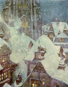 The Snow Queen Flies Through the Winter's Night by Edmund Dulac