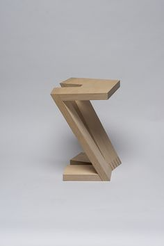 Z stool by Carolin Pertsch wood DIY inspo My Furniture, Design Furniture, Bench Stool, Wood Design, Modern Chairs, Contemporary Furniture, Woodworking, Wood Table, Behance