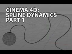 Cinema 4D Tutorial: Spline dynamics - YouTube