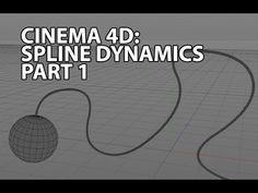 Cinema 4D Tutorial: Spline dynamics - YouTube