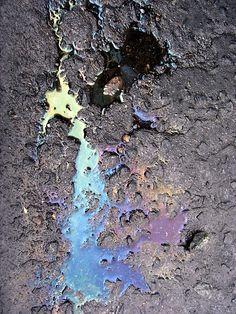 be careful of rainbows – oil slicks abound