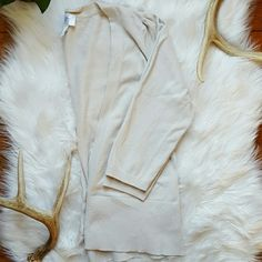 Anne Taylor Loft Cardigan Light creamy colored, 2 button cardy, no stains. A great color to pair with a variety of colors! Ann Taylor Sweaters Cardigans
