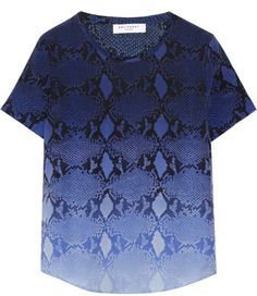 Love this: Riley Snakeprint Washedsilk Top @Lyst