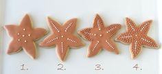 tutorial: how to decorate starfish cookies  {Glorious Treats}