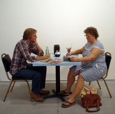 Duane Hanson self portrait with model: Duane Hanson complex world