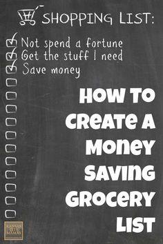 How to Create a Money Saving Grocery List   KansasCityMamas.com