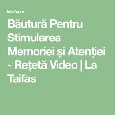 Băutură Pentru Stimularea Memoriei și Atenției - Rețetă Video | La Taifas Omega, Math Equations