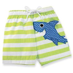 Shark Baby Swim Trunks - Follow us on Facebook too! http://www.facebook.com/SpecialBabyShowerGifts