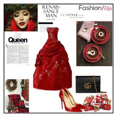 """Fashion set #13"" by dandi-gramov ❤ liked on Polyvore featuring Gucci, Christian Louboutin, women's clothing, women's fashion, women, female, woman, misses and juniors"