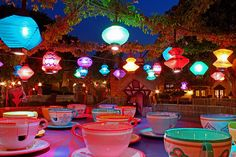 Disney World Mad Hatter Tea Cup ride- another favorite :)