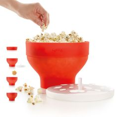 This bowl that lets you make microwave popcorn with just kernels and whatever flavors you like.