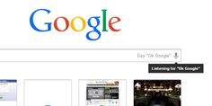 'OK Google' is your hotword for hands-free voice search on Chrome.