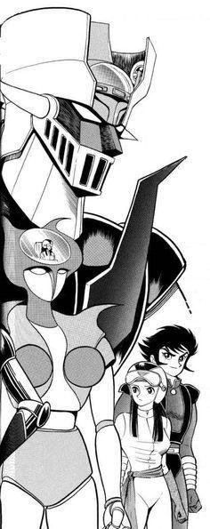 Mazinger Z by Go Nagai Manga Anime, Anime Art, Sketch Manga, Card Captor, Super Robot, Arte Horror, Old Cartoons, Cultura Pop, Manga Comics