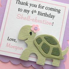 handmade TURTLE birthday favor tags by plumcakeparties on Etsy