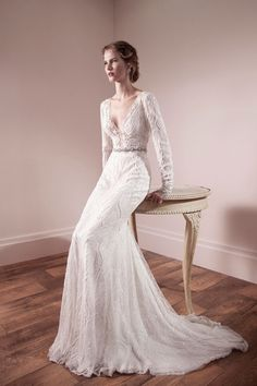 Blog of Wedding and Occasion Wear: 2014 Long Sleeves Wedding Dresses
