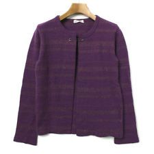 Comme des Garcons cardigan purple (border) Size M cool JUNYA WATANABE F/S