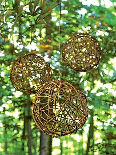 Rattan Ball with Warm White Micro-LED Lights   Gardeners.com