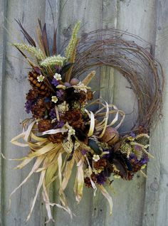 Absolutely gorgeous! Fall Woodland Meadow Wreath