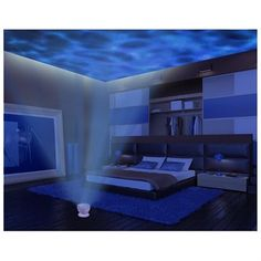 Ohuhu® Romantic Relax Ocean Wave 12 LED Light Projector / Night Light, Speaker, Night Ocean Light, Water Wave Lamp - Great Natural Sleep Aid for Babies, Adults or the Old Night Light Projector, Projector Lamp, Led Night Light, Water Waves, Ocean Waves, Ocean Room, Natural Sleep Aids, Massage Room, Massage Therapy