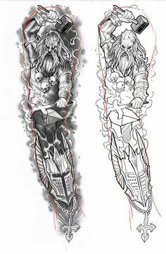 Původní návrh - #geisha #návrh #Původní Full Tattoo, Full Sleeve Tattoo Design, Best Sleeve Tattoos, Full Sleeve Tattoos, Body Art Tattoos, Norse Mythology Tattoo, Greek Mythology Tattoos, Norse Tattoo, Celtic Tattoos