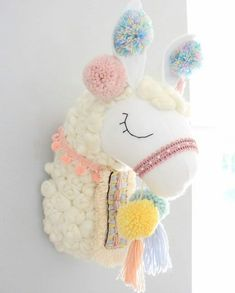 Ideas for crochet doll head sweets Girl Nursery, Girls Bedroom, Alpacas, Felt Crafts, Diy And Crafts, Llama Decor, Baby Room Decor, Bedroom Decor, Wall Decor