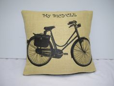 My Bicycle Cushion by madeincrawley on Etsy, £7.00