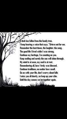 Limb falling from family tree