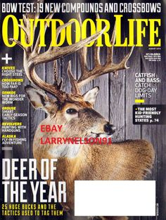 OUTDOOR LIFE MAGAZINE AUGUST 2014 CATFISH BASS BOW TESTS DEER FLY FISHING BUCKS