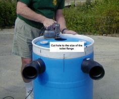 How to Construct a Small Septic System-trust me you'll need it after any disaster!!!