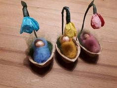 Blossom children in lovingly handcrafted nutshells. Each € … - Modern Nature Crafts, Fun Crafts, Crafts For Kids, Easter Activities, Infant Activities, Sensory Activities, Christmas Fairy, Christmas Crafts, Walnut Shell Crafts