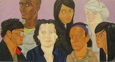 'Audience' oil on canvas, 240 x 300cms, 2008