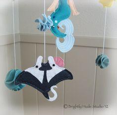 Magical Mermaid Felt Mobile by BrightlyHude on Etsy