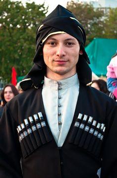 adyghe traditional costume circassian men north-caucasus