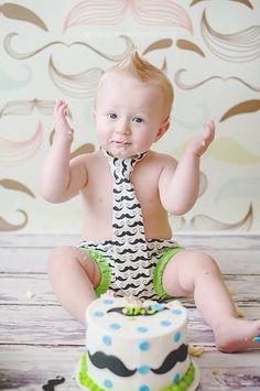 Baby boy two piece smash cake outfit/ tie and diaper by SMPstore, $28.00