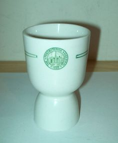 "Vintage ""The Presbyterian Hospital-1868 (NYC)-Porcelailn DOUBLE EGGCUP"""