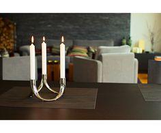 Подсвечник BOW - никелированная сталь - В8,5 см | Westwing Интерьер & Дизайн