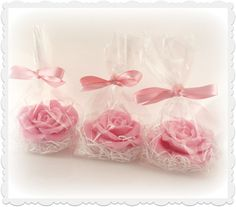 Rose Soap Favors -  Gift Set - Party Favors - Wedding Favor - Baby Shower - Guest Soap - Home Living on Etsy, $6.00