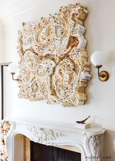 What to do with old books? You can use them as wall decor. Here you can find many creative DIY wall art projects with used books. An amazin home decor idea. Book Sculpture, Wall Sculptures, Paper Sculptures, Eclectic Sculptures, Book Wall, Book Folding, Old Books, Resin Crafts, Book Crafts