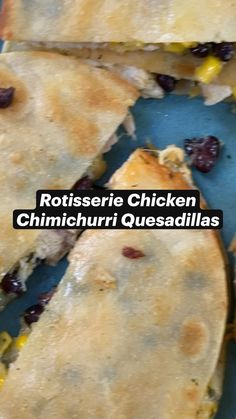 Chimichurri, I Love Food, Good Food, Yummy Food, Rotisserie Chicken, Mexican Dishes, Mexican Food Recipes, Chicken Quesadillas, Le Chef