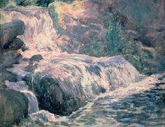 "John Henry Twachtman, ""Waterfall, Blue Brook"" (circa 1895-1900)"