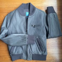Barneys Co Op leather bomber jacket Amazing leather bomber. A few pen stains but other than that amazing condition. Barneys New York CO-OP Jackets & Coats