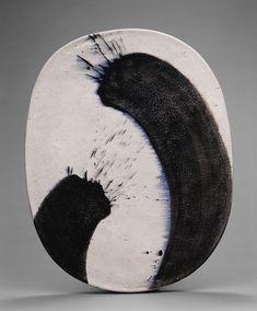 Jun-Kaneko (1942 - ) - raku oval #PotteryPainting