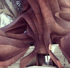 Best Ideas For Architecture and Modern Design : – Picture : – Description Frank Gehry LA Concert Hall interior? Art Et Architecture, Organic Architecture, Futuristic Architecture, Beautiful Architecture, Contemporary Architecture, Architecture Details, Contemporary Building, Contemporary Garden, Contemporary Office