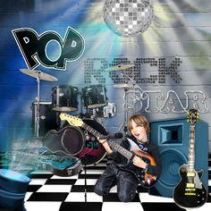 Bribri62-Scrap: Ma page avec le Kit Ham ham pop rock music de Kittyscrap
