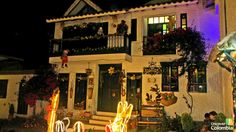 Christmas lights at Pueblito boyancese - Uncover Colombia