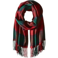 Phenix Cashmere Women's Plaid 100 Percent Cashmere Wrap ($68) ❤ liked on Polyvore featuring accessories, scarves, tartan plaid shawl, plaid scarves, wrap shawl, plaid wraps shawls and tartan shawl