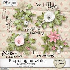Preparing for winter Clusters&Wordart by PrelestnayaP Design