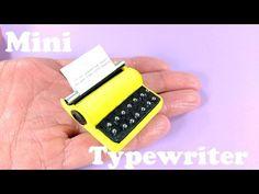 DIY Miniature Typewriter - Doll Crafts - YouTube