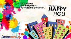 ACREDEALS WISHES A VERY HAPPY & COLOURFUL HOLI -- http://www.acredeals.com #houses #residentialproperties #holi @ndujari @nipunkochar